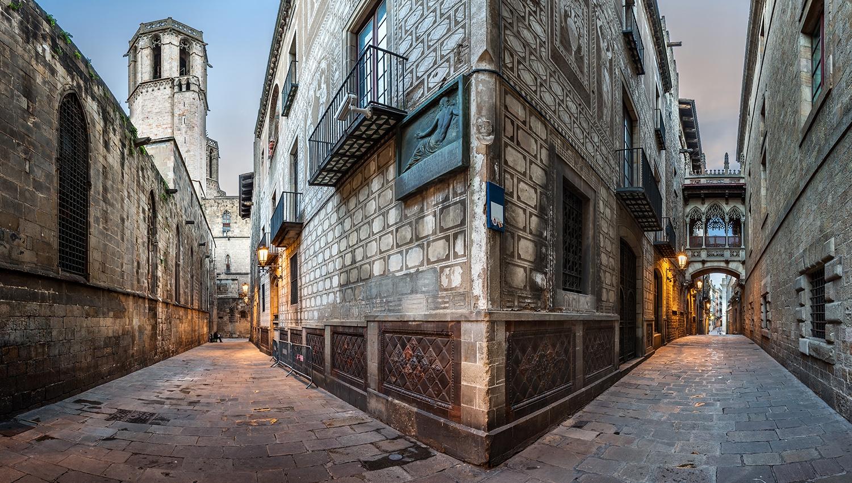 إسبانيا برشلونة اهم الاماكن السياحية الحي القوطي