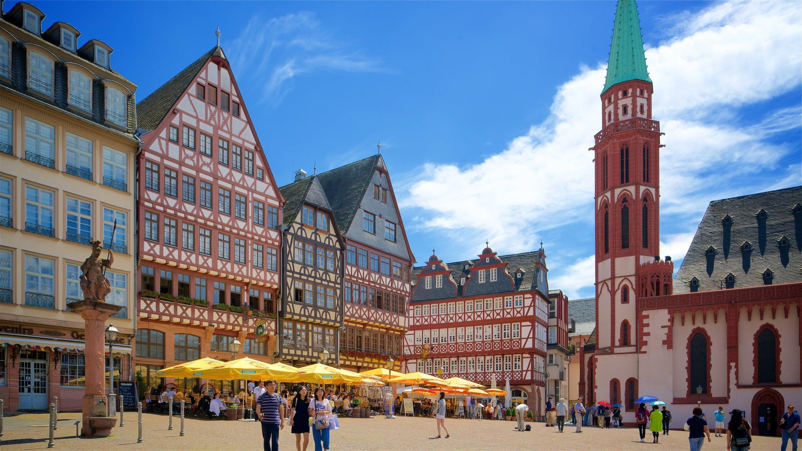 المانيا فرانكفورت اهم الاماكن السياحية ميدان رومربرغ
