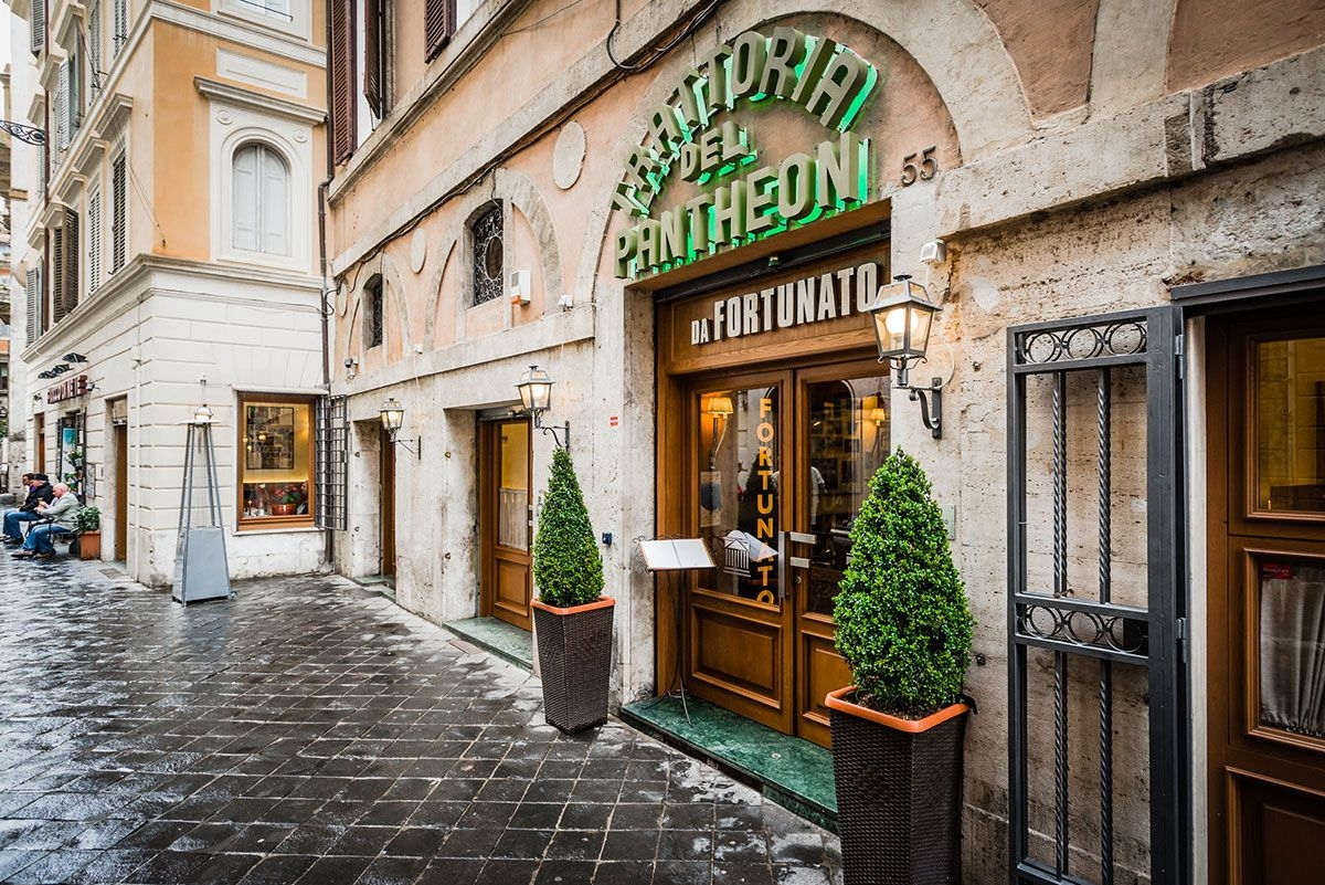 ايطاليا روما اهم اماكن التسوق والمطاعم مطعم فورتناتو ال بانثيون