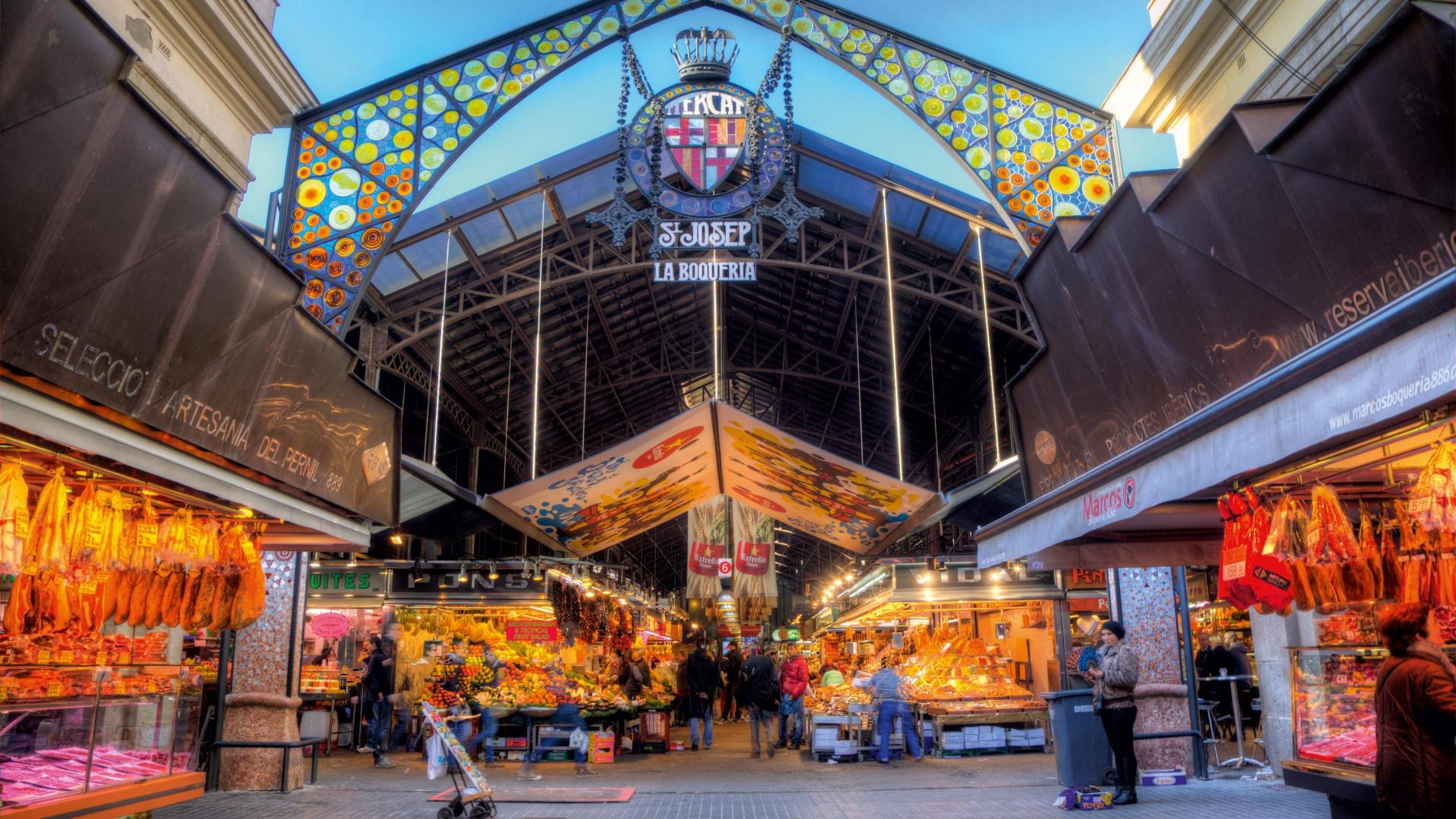 إسبانيا برشلونة افضل اماكن التسوق والمطاعم سوق لابوكويريا