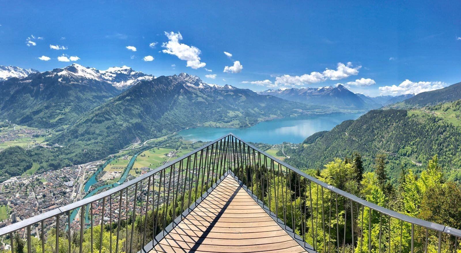 سويسرا انترلاكن اهم الاماكن السياحيه جبل هاردر كولم انترلاكن