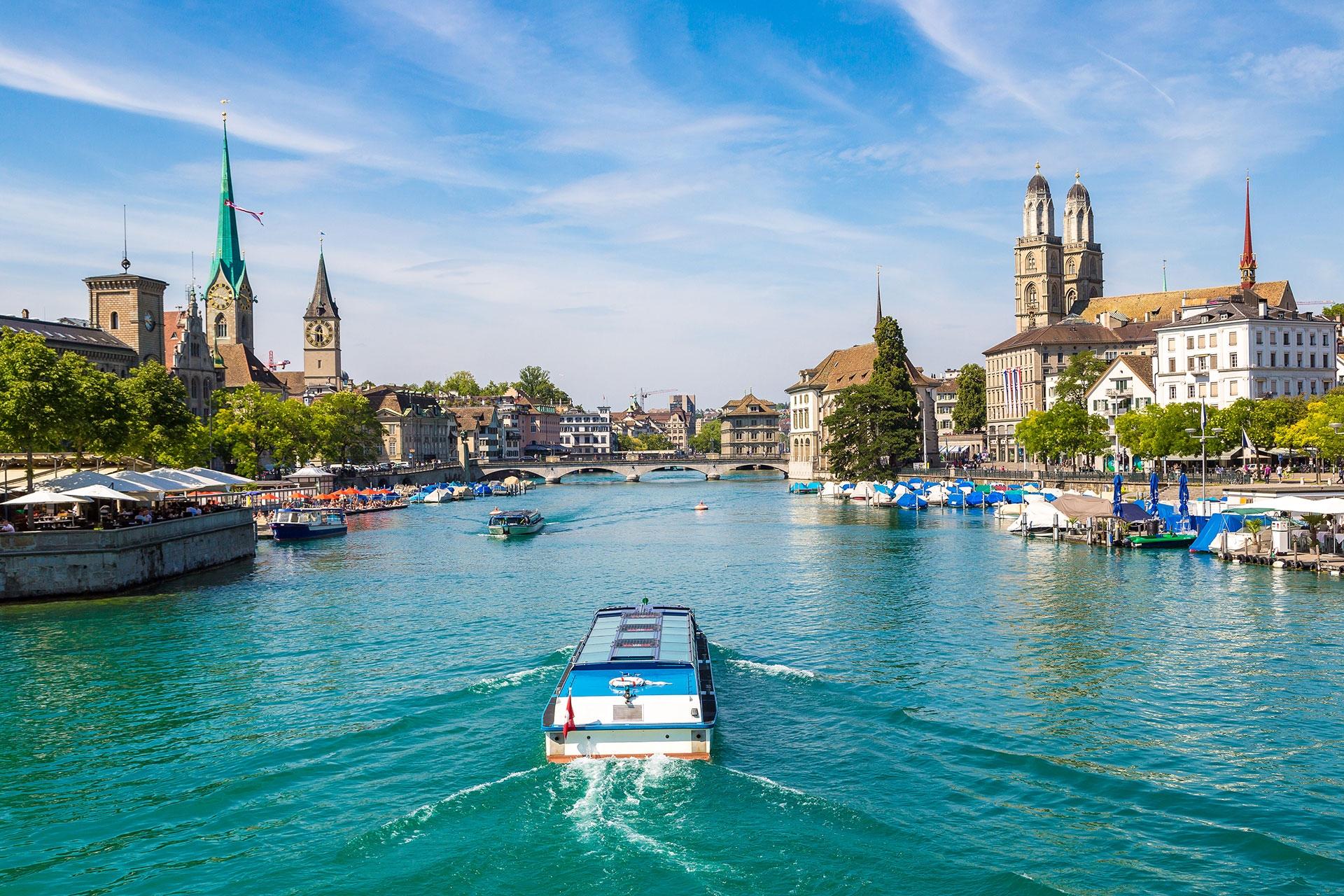 سويسرا زيورخ اهم الاماكن السياحية بحيرة زيورخ