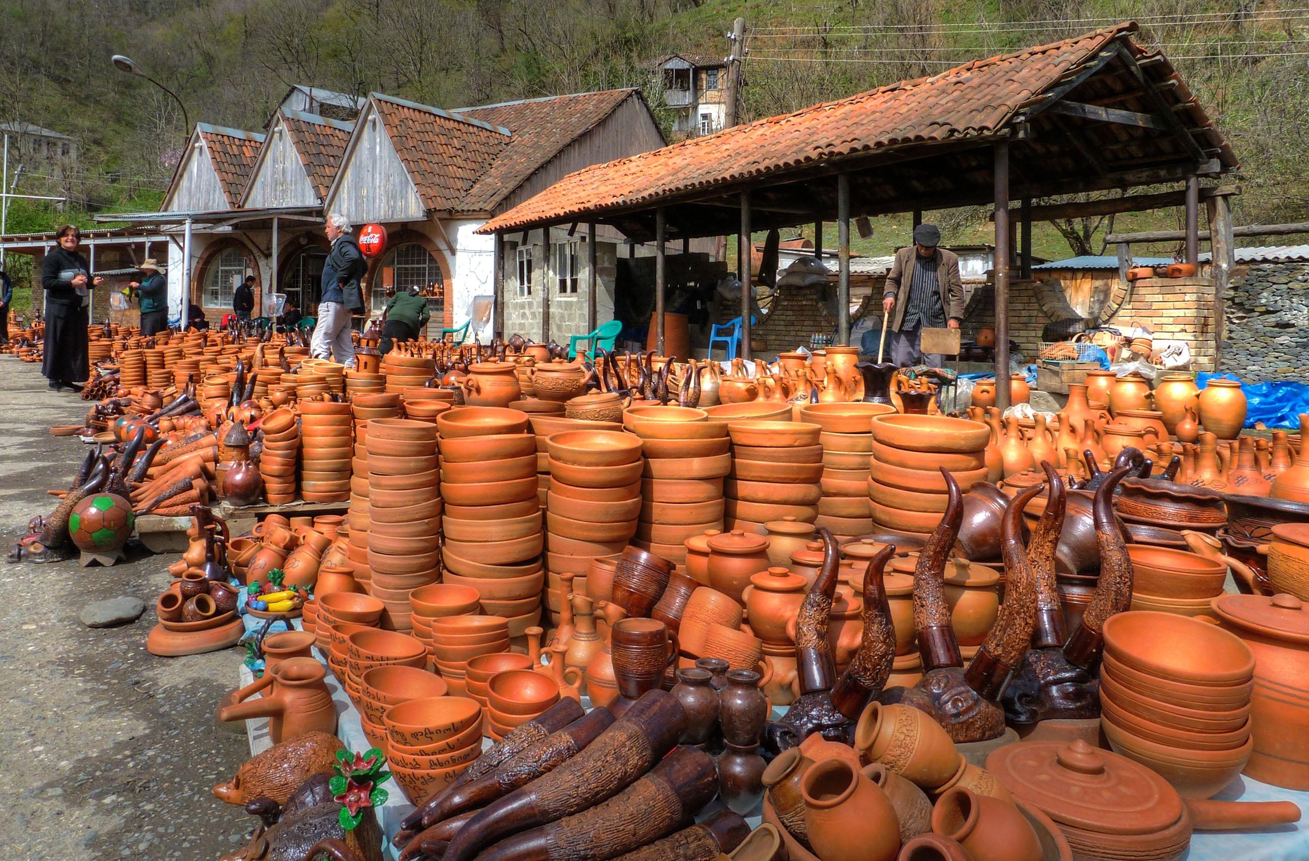 جورجيا كوتايسي افضل اماكن التسوق والمطاعم سوق كوتايسي