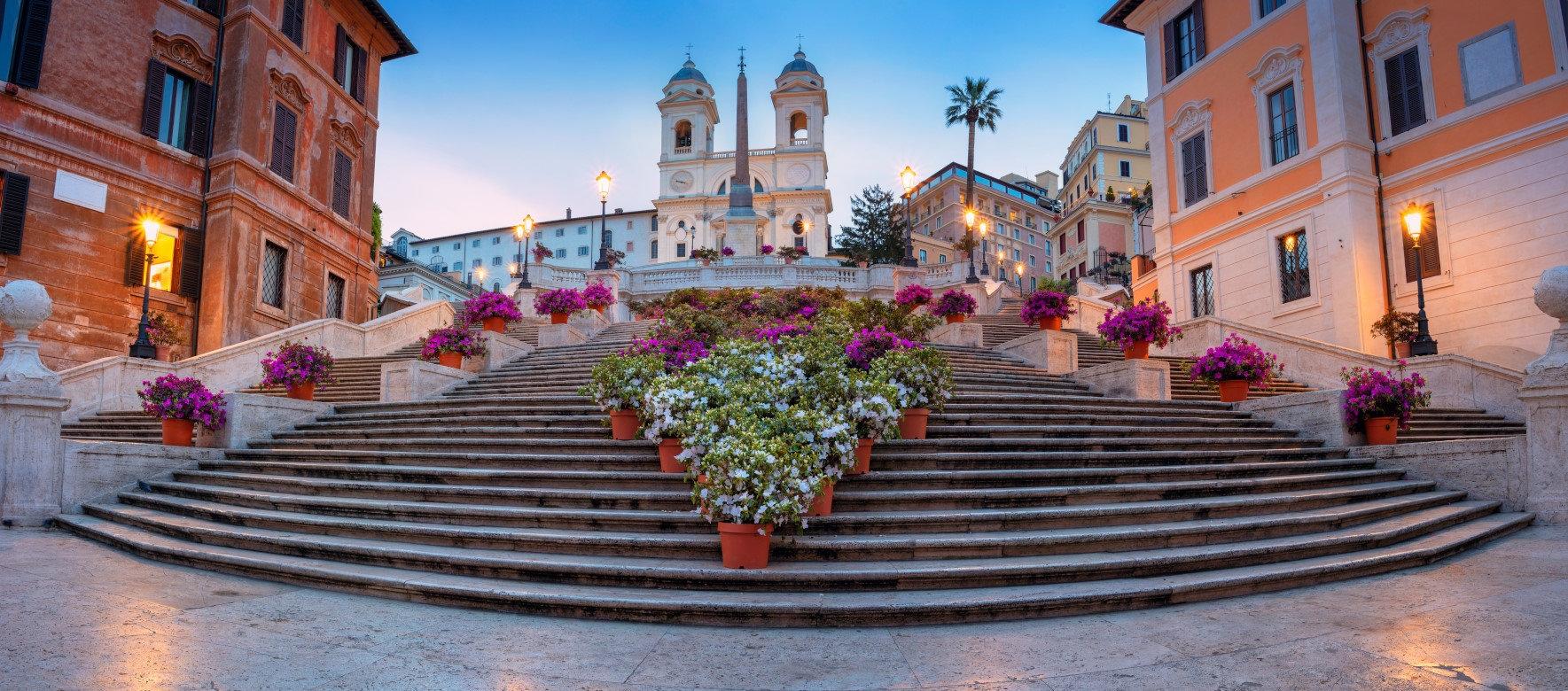 ايطاليا روما اهم الاماكن السياحيه السلالم الاسبانيه