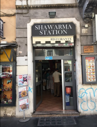 ايطاليا روما اهم اماكن التسوق والمطاعم مطاعم شاورما ستيشن