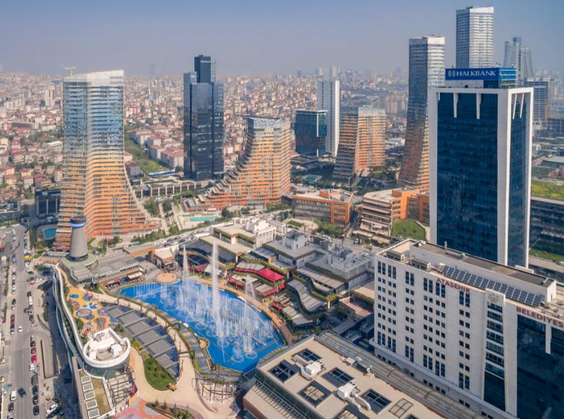 تركيا اسطنبول اهم اماكن التسوق والمطاعم مول ووتر جاردن