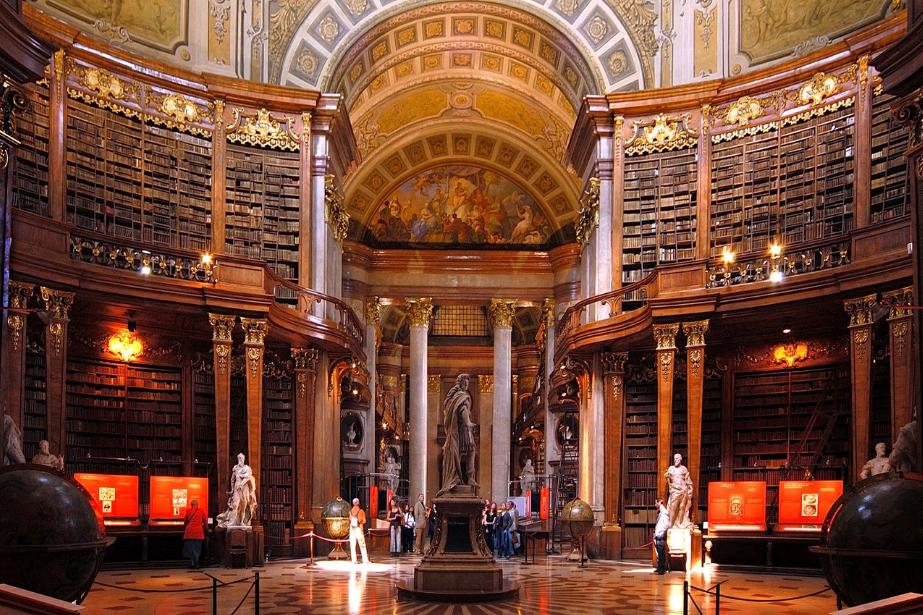 النمسا فيينا اهم الاماكن السياحية المكتبة الوطنيه النمساوية
