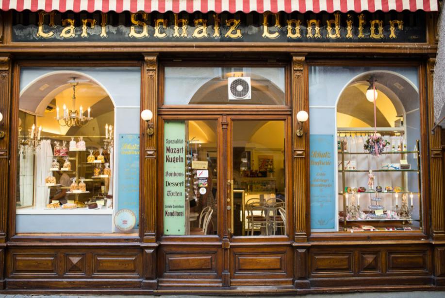 النمسا سالزبورغ افضل اماكن التسوق والمطاعم مطعم شاتز كونديتوريا