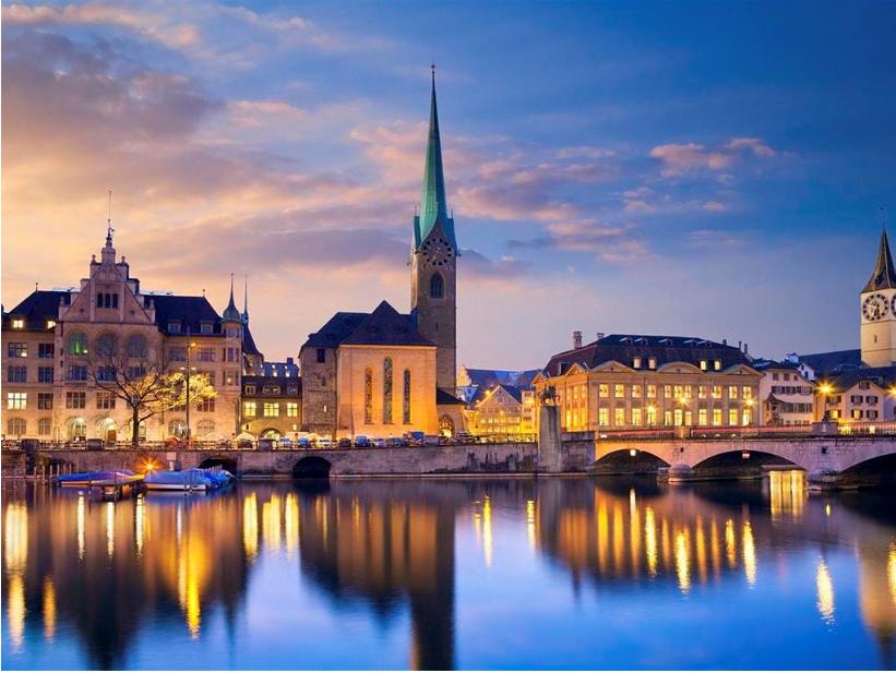 سويسرا زيورخ اهم الاماكن السياحية بحيرة النزهه