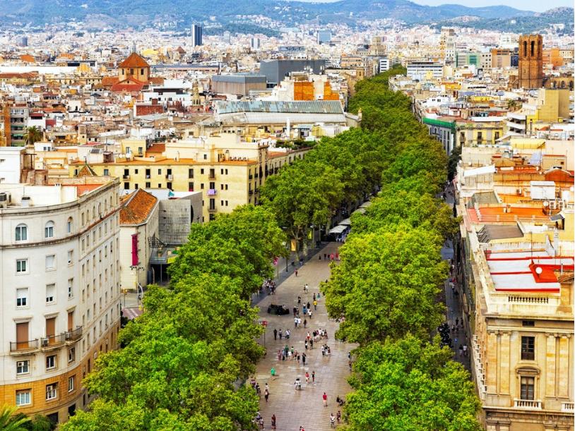 إسبانيا برشلونة افضل اماكن التسوق والمطاعم شارع الرامبلا