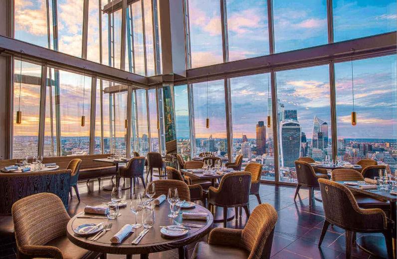 بريطانيا لندن افضل اماكن التسوق والمطاعم مطعم aqua shard