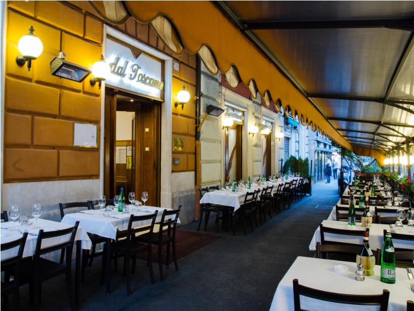 ايطاليا روما اهم اماكن التسوق والمطاعم مطعم توسكانو