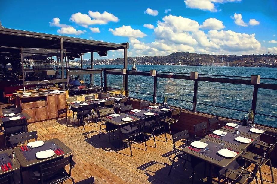تركيا اسطنبول اهم اماكن التسوق والمطاعم مطعم ذا ماركت بسفور