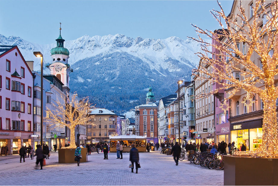 النمسا انسبروك افضل اماكن التسوق والمطاعم شارع ماريا تييريزا