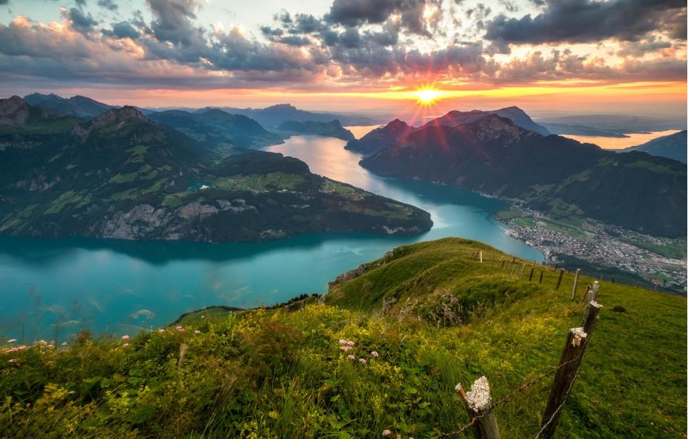 سويسرا لوسيرن اجمل الاماكن السياحيه بحيرة لوسيرن