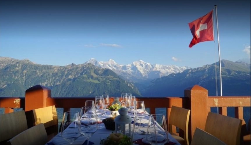 سويسرا انترلاكن اجمل اماكن التسوق والمطاعم مطعم هاردير كولم البانورامي