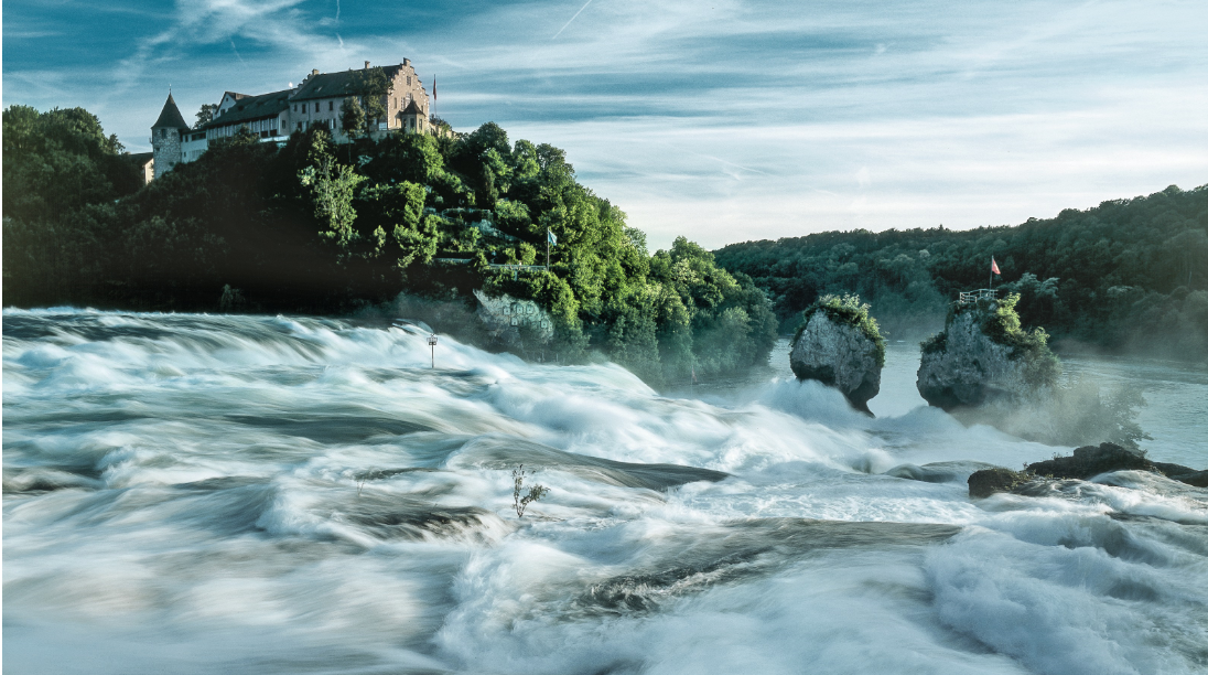 سويسرا زيورخ اهم الاماكن السياحية شلالات الراين