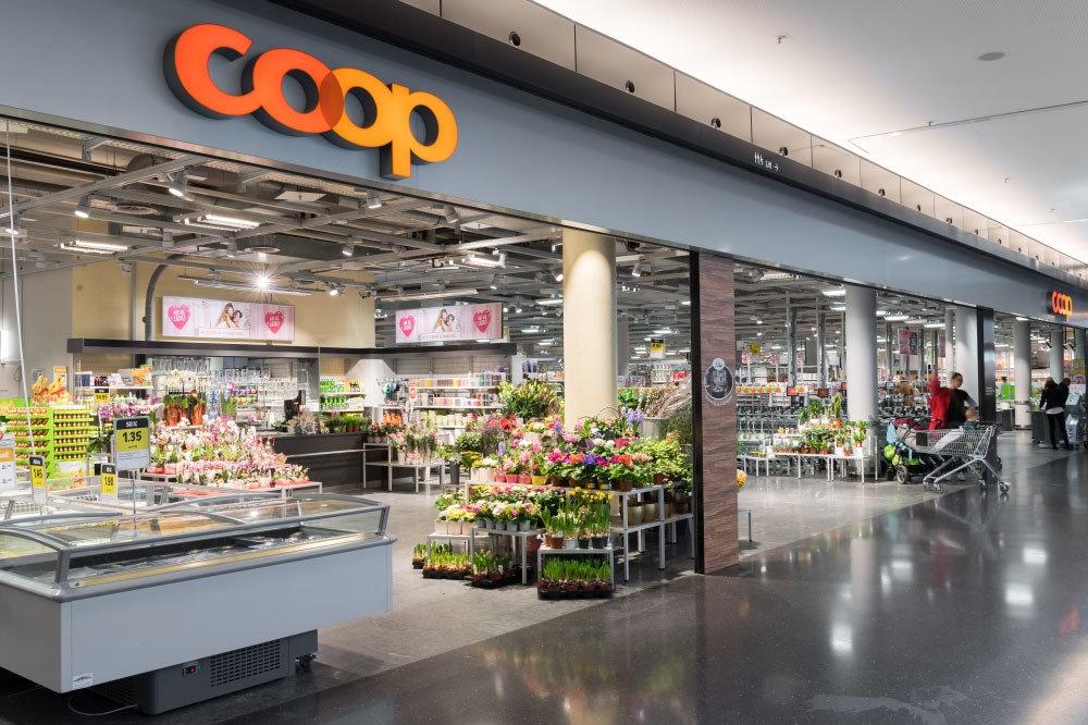 سويسرا انترلاكن اجمل اماكن التسوق والمطاعم سوبرماركت كووب