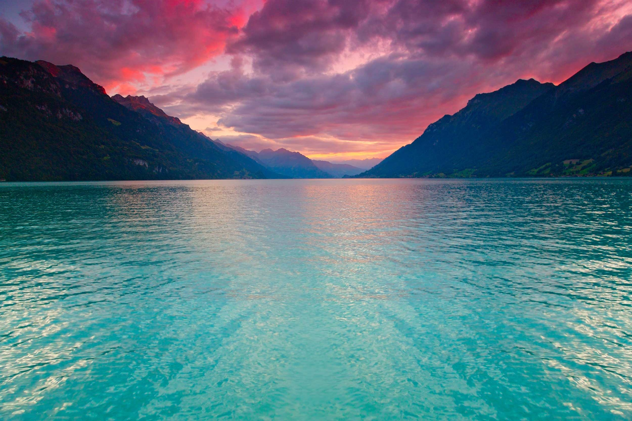 سويسرا انترلاكن اهم الاماكن السياحيه بحيره برينز