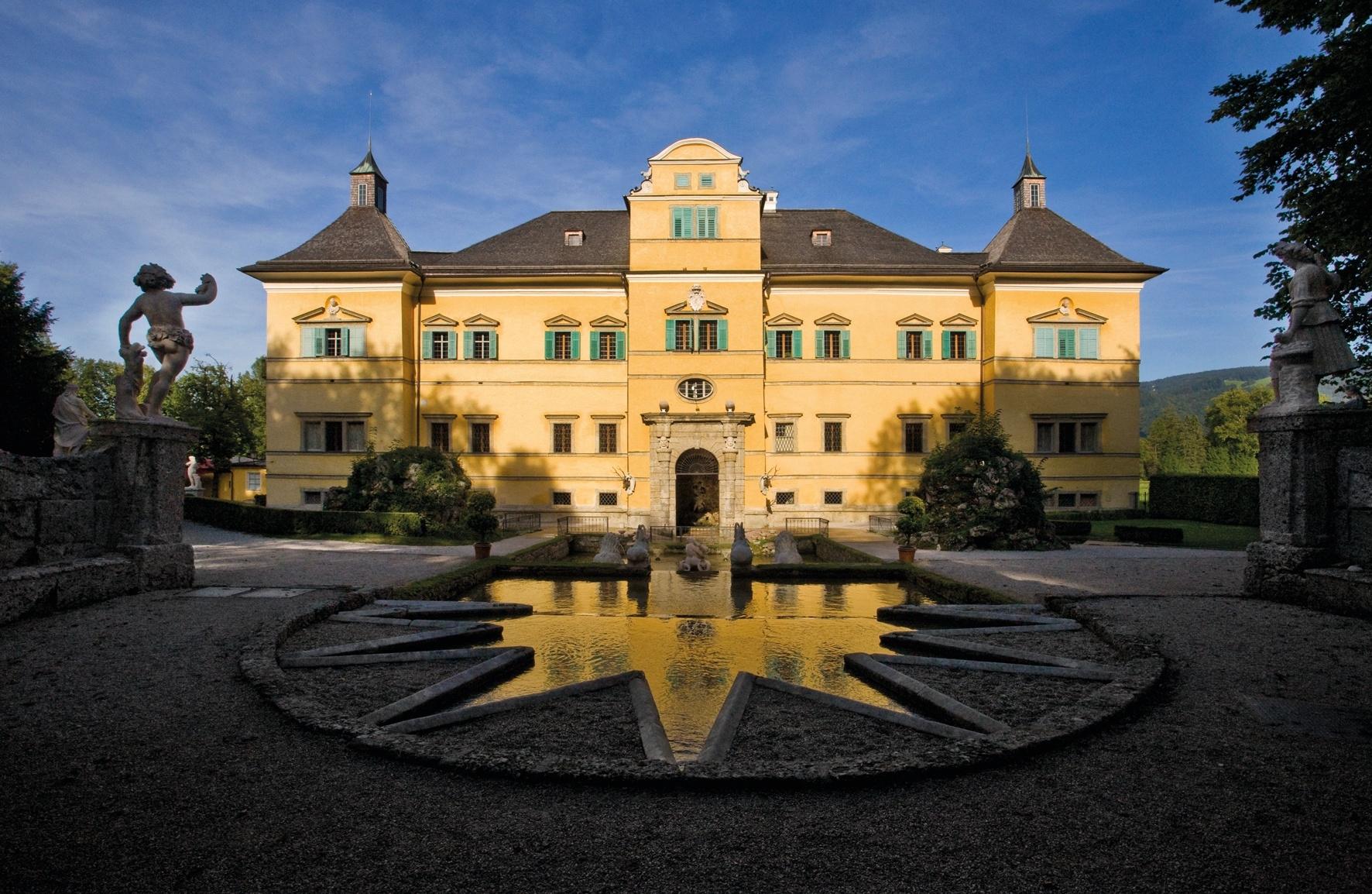 النمسا سالزبورغ اهم الاماكن السياحية قصر هيلبرون