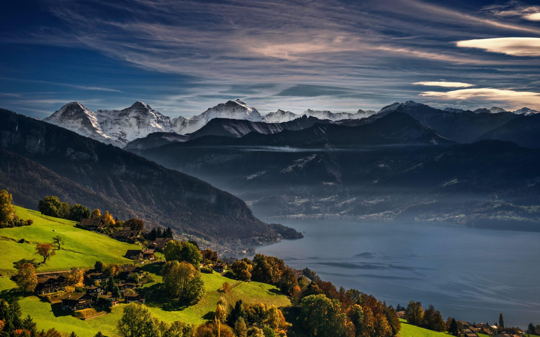 سويسرا انترلاكن اهم الاماكن السياحيه بحيرة ثون