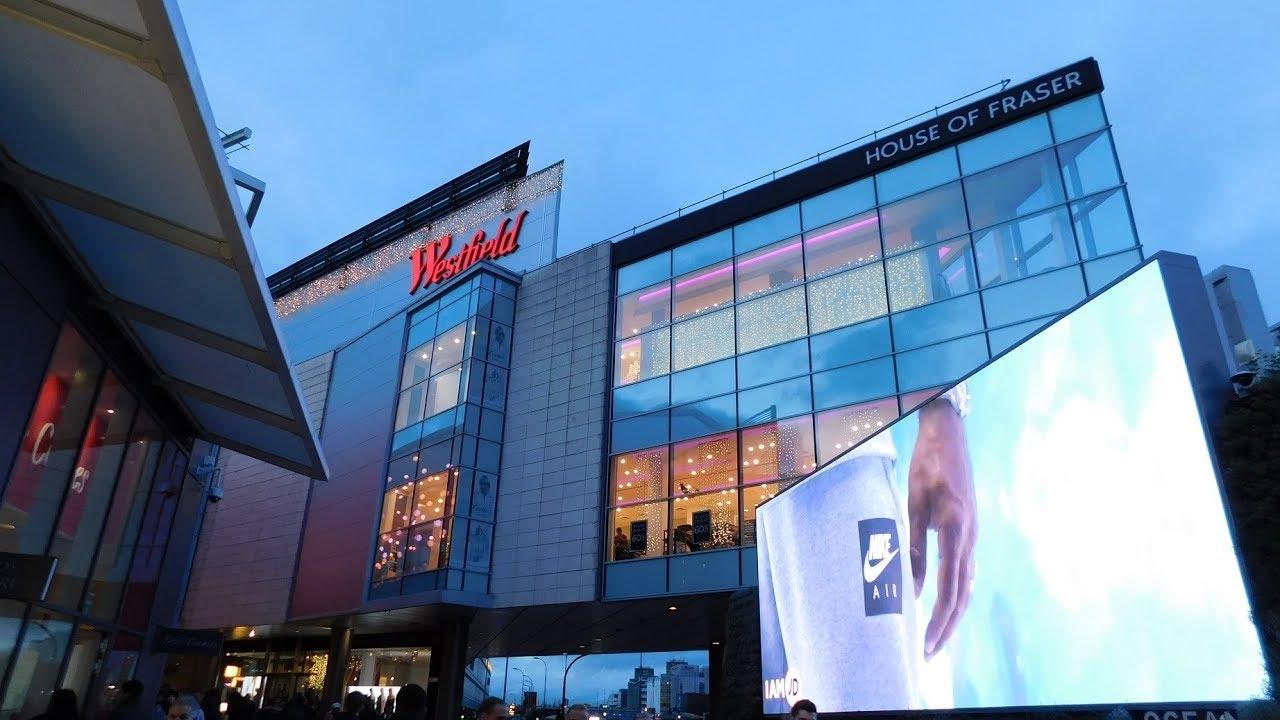 بريطانيا لندن افضل اماكن التسوق والمطاعم مول ويستفيلد لندن