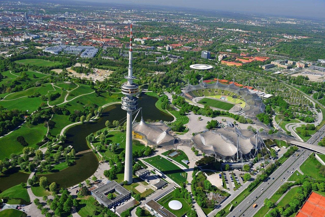 المانيا ميونخ اهم الاماكن السياحية الحديقة الاولمبية