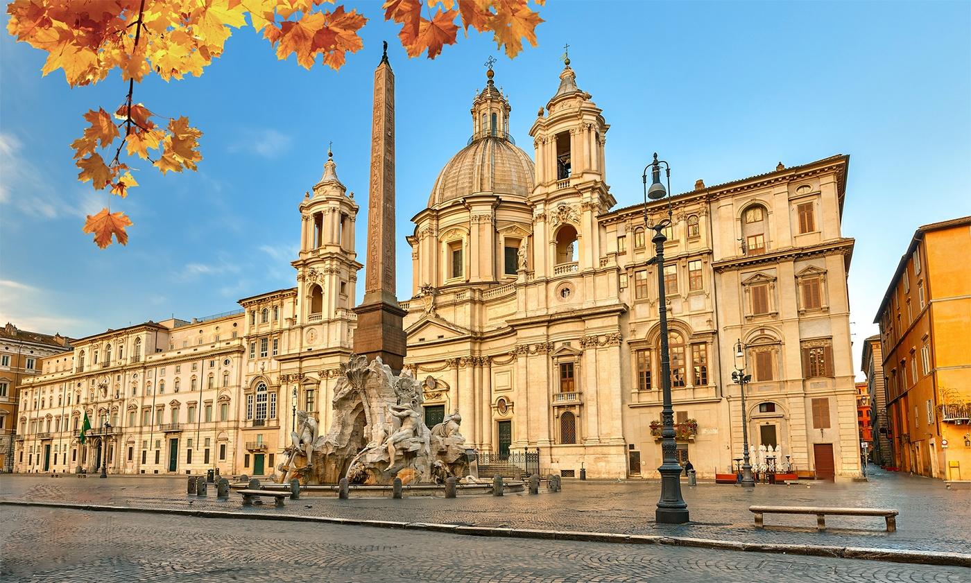ايطاليا روما اهم الاماكن السياحيه ساحة نافونا