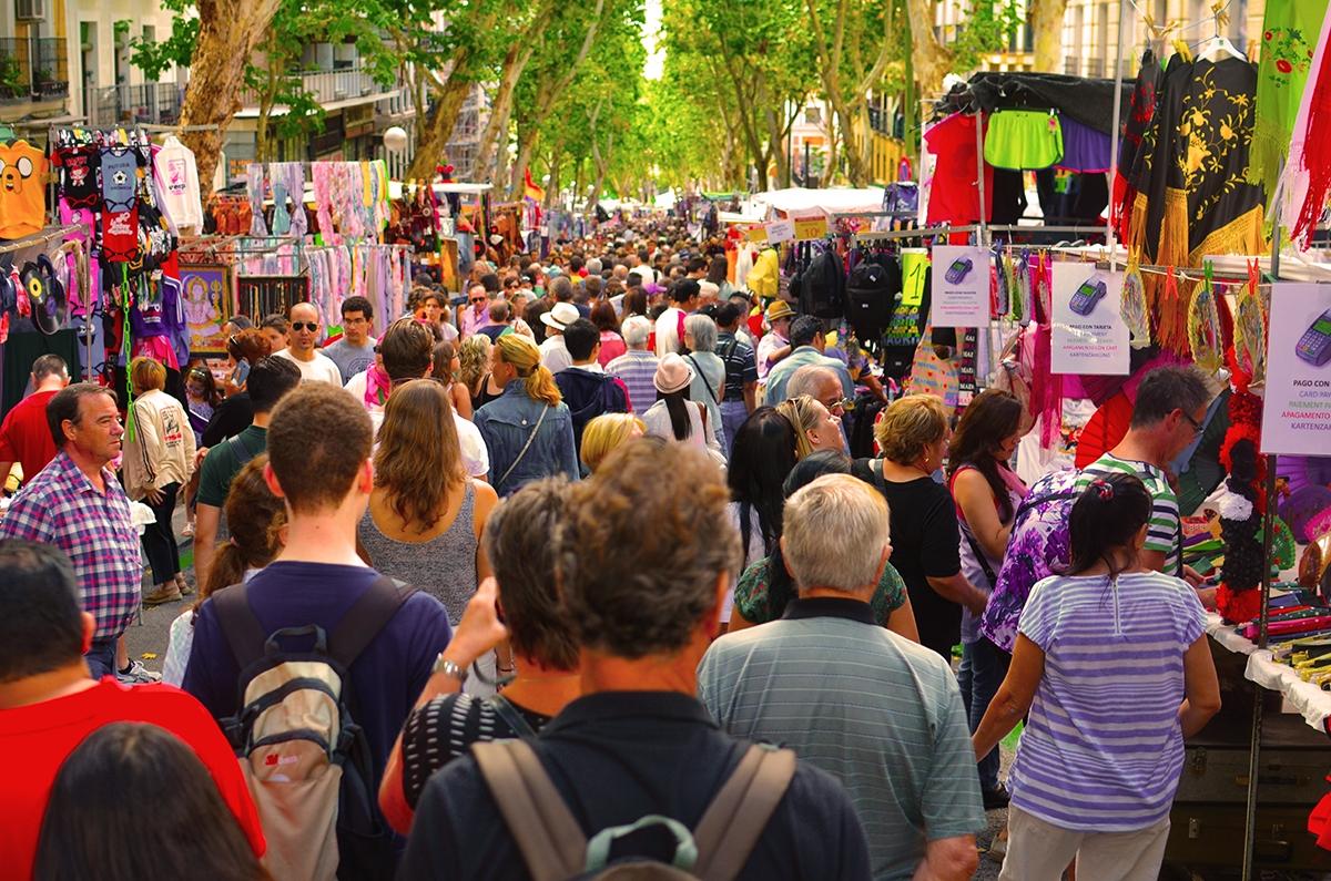 إسبانيا مدريد افضل اماكن التوق والمطاعم سوق البرغوث