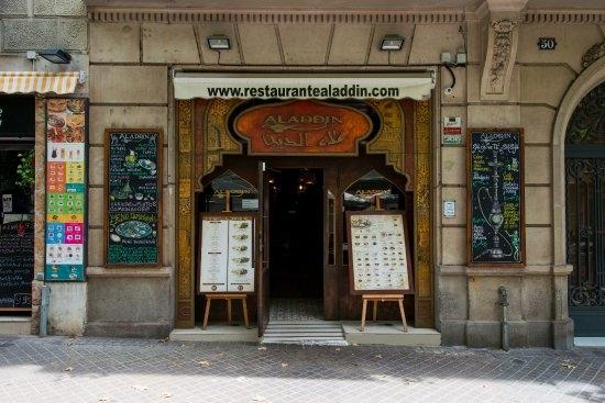 إسبانيا برشلونة افضل اماكن التسوق والمطاعم مطعم علاء الدين