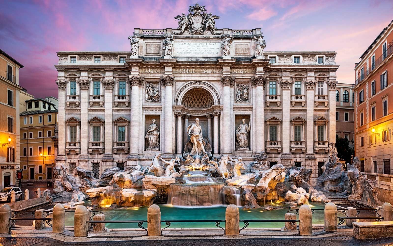 ايطاليا روما اهم الاماكن السياحيه  نافورة تريفي