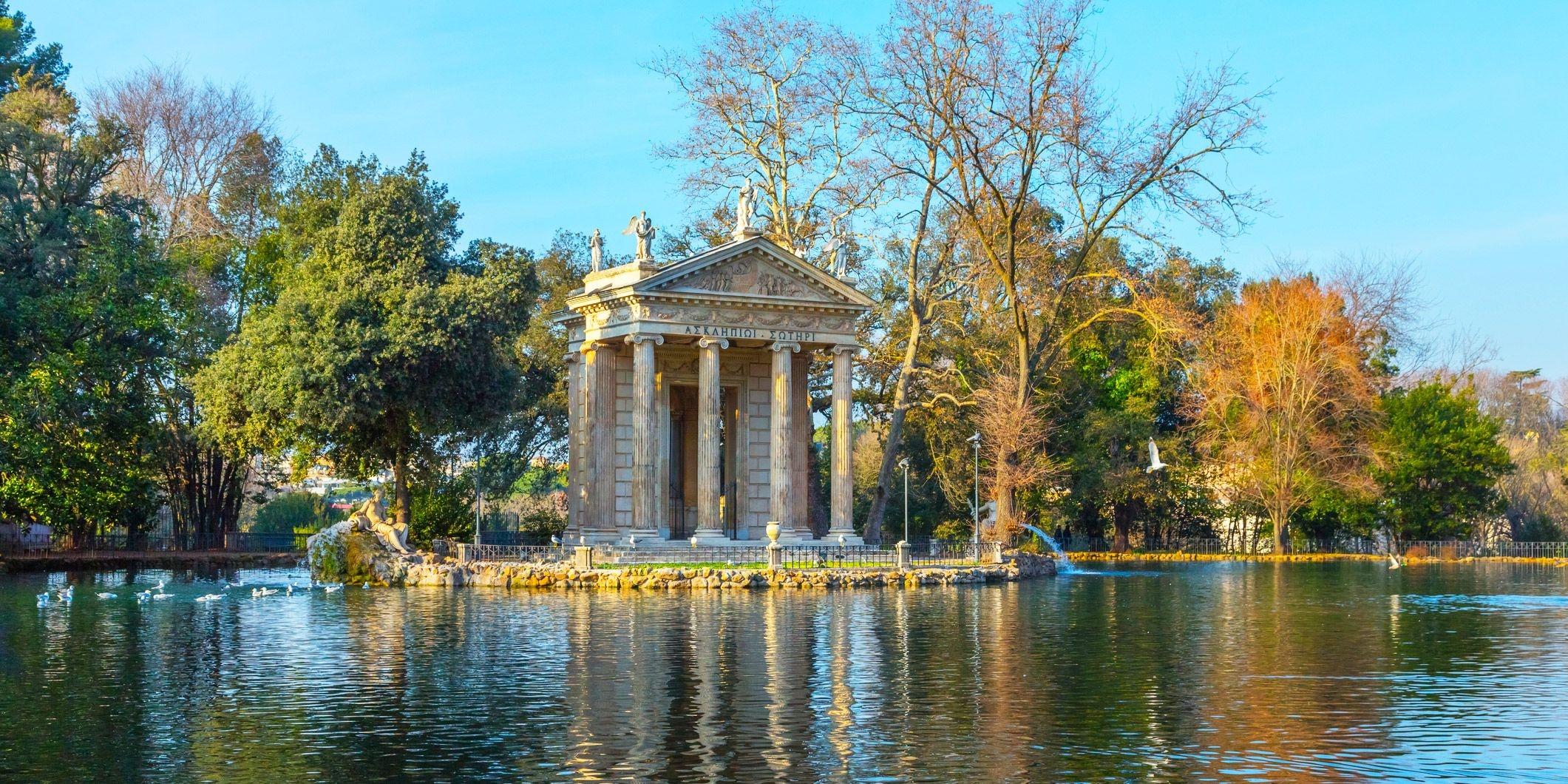ايطاليا روما اهم الاماكن السياحيه حدائق فيلا بورغيزي